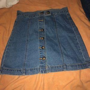 Button up jean skirt